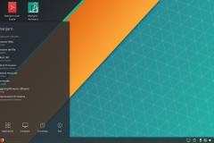 Menu delle applicazioni su Manjaro KDE