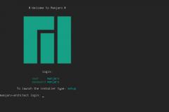 Schermata di login di Manjaro Architect