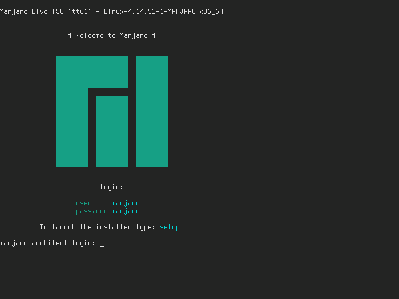 Manjaro Architect login